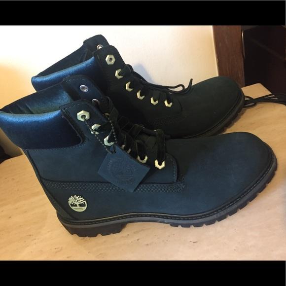 Womens Timberland Velvet Green Boots